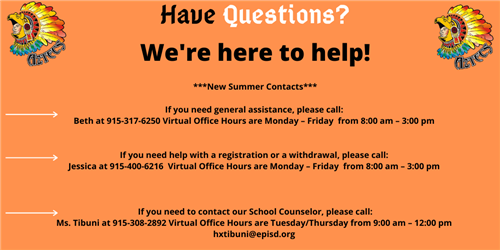 New virtual hours and contact information