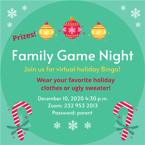 Holiday Family Game Night