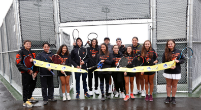 El Paso High celebrates opening of Bond-funded tennis courts