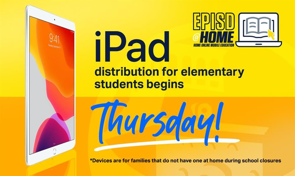 Curbside iPad distribution starts in EPISD Thursday