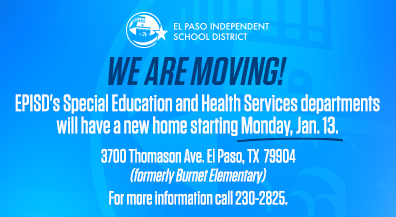 EPISD Special Education and Health Services Center move to new location