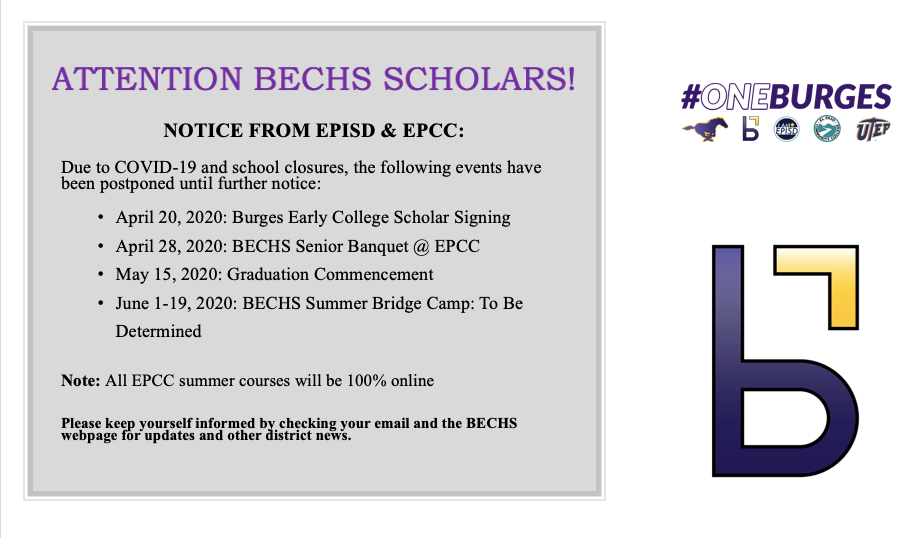 Are you a future Burges H.S. Early College Scholar