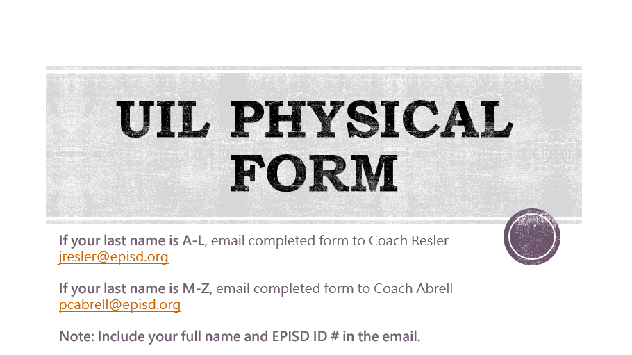 UIL Physical Form 20-21