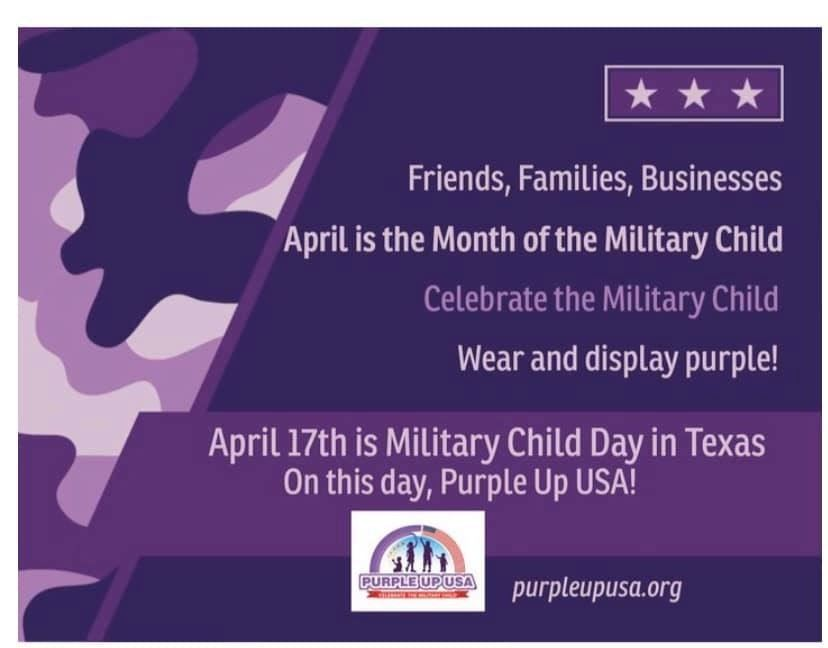 Month of the Military Child T-Shirts On Sale Now