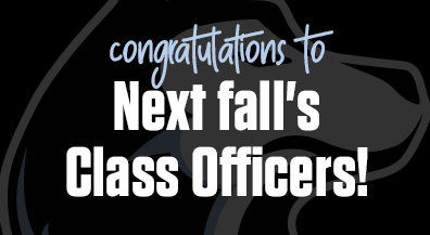 Congratulations to next fall's class officers