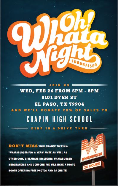 Whataburger Spirit Night, 26 February