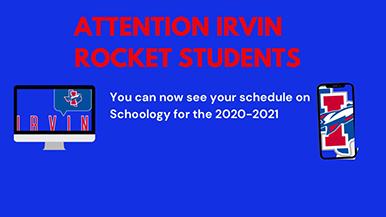Student Schedules for 2020-2021